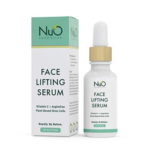 NuOrganic Face Lifting Serum | Anti-Aging Serum | Organic Formula with MATRIXYL 3000, Vitamin C, Hyaluronic Acid, Plant Stem Cells, Argireline – Lifts, Firms & Tightens Skin ● 30ML