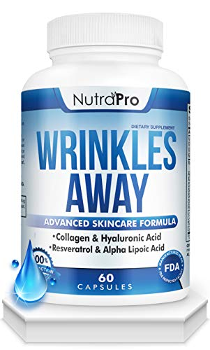 Skin Vitamins To Reduce Wrinkles and Fine Lines. The Only Skin Supplement With Collagen, Resveratrol and Hyaluronic Acid Together To Renew Skin by NutraPro. | Launch Special Price |