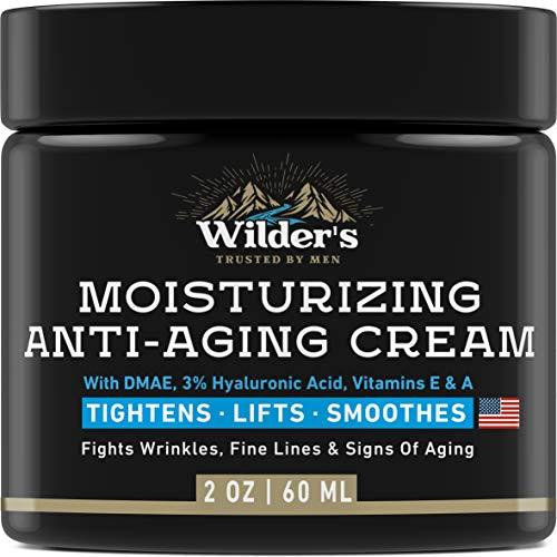 Men's Anti Aging Face Cream Moisturizer – Premium Skin Care for Men with Collagen, Retinol, Hyaluronic Acid – Made in USA – Fast Anti-Age Effect Day & Night – Wrinkle Free Facial Men Moisturizer 2Oz