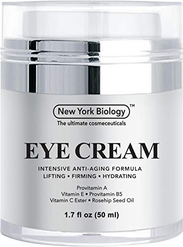 Eye Cream Moisturizer for Dark Circles, Fine Lines, Puffiness and Wrinkles Under the Eyes – Intensive Anti Aging Formula with Provitamin A and B5, Vitamin C and E – 1.7 fl oz (50ml)