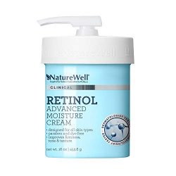 NatureWell Retinol Advanced Moisture Cream for Face & Body, 16 oz. | Clinical | Improves Firmness, Tone & Texture
