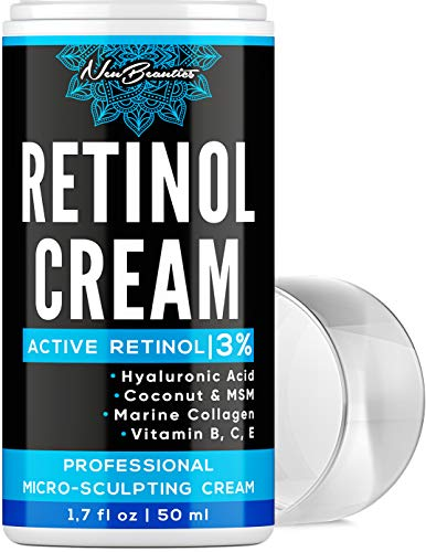 Micro-Sculpting Anti-Aging Retinol Moisturizer – Made in USA – Facial Moisturizer with 3% Retinol, Hyaluronic Acid & Collagen – Anti-Wrinkle & Fine Line Reduction – Rich Wrinkle Cream for Face & Neck