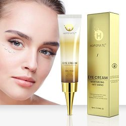HOPEMATE Anti Age Eye Cream, Reduce Dark Circles, Puffiness Under Eye Bags,Effective Anti-Wrinkles Treatment – Anti-Aging Eye Gel with Hyaluronic Acid Natural and Organic Anti Aging Eye Balm To Reduce