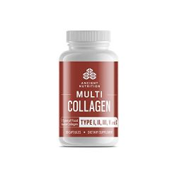 Multi Collagen Pills, Formulated by Dr. Josh Axe, Blend of Grass-Fed Beef, Chicken, Wild Fish and Eggshell Collagen Peptides, Supports Skin, Nail & Gut Health, 90 Count