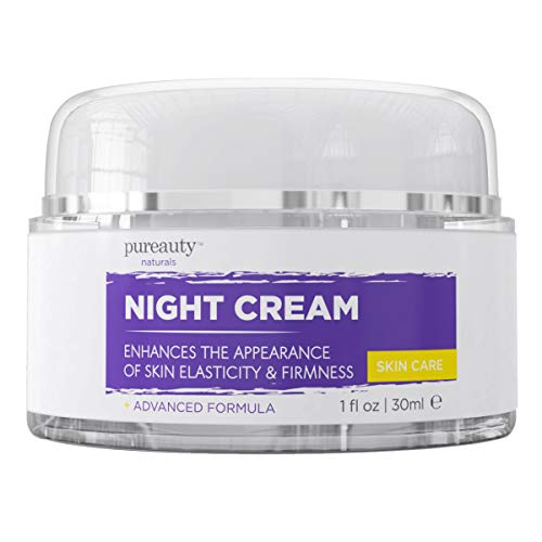 Night Cream for Face and Neck, Anti Aging Cream and Night Moisturizer for Women and Men, Help Reduce The Appearance of Wrinkles, Fine Lines – Night Face Cream for Anti-Aging – Pureauty Naturals – 30ml