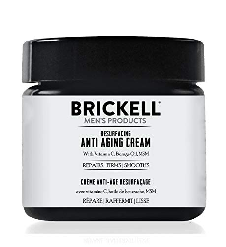Brickell Men's Products Resurfacing Anti-Aging Cream For Men, Natural and Organic Vitamin C Cream, 2 Ounce, Scented