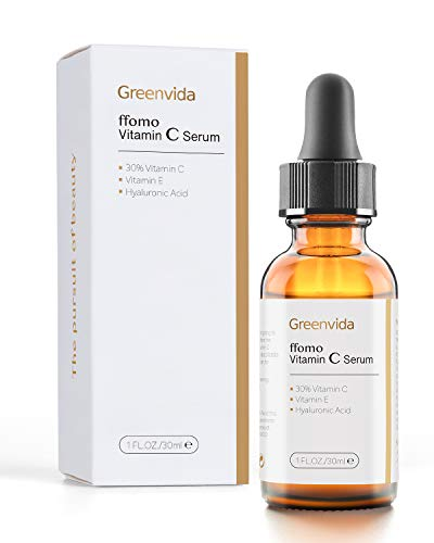 30% Vitamin C Serum for Face and Skin, Anti-Aging Anti-Wrinkle Natural Face Serum with Hyaluronic Acid, Vitamin E- Fades Age Spots, Brighten Skin Tone, 1 fl oz