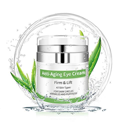 Eye Cream – Under Eye Treatment for Anti Aging, Dark Circles, Eye Bag & Puffiness with 43% Aloe Vera, Retinol, Vitamin C & E Eye Treatment for Men/Women's Eye Cream