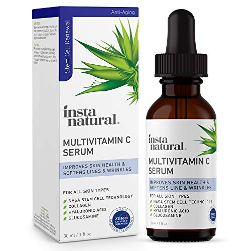 Vitamin C Serum for Face – Natural Anti Aging, Brightening & Hydrating Facial Care – Improves & Strengthens Skin Health – Nourishing Lines & Wrinkle Treatment – With Hyaluronic Acid & Collagen – 1 oz