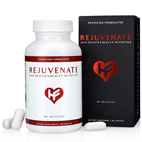 HealFast Rejuvenate – Anti Aging Beauty & Skin Supplement – Clinically-Studied Ingredients w/Nicotinamide & Verisol Collagen Peptides – Physician Formulated – for Energy, Skin, Hair, Nails – 90 Pills