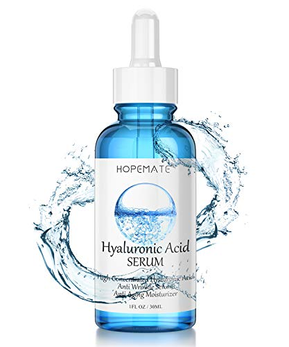 Hyaluronic Acid Skin Care Serum, HOPEMATE H Natural Botanical Serum Serum, 5% Pure Hyaluronic Acid Face Serum, revitalize, Hydrates, Plumps Skin, Anti Aging, Wrinkle Serum, Repairs Damage Skin
