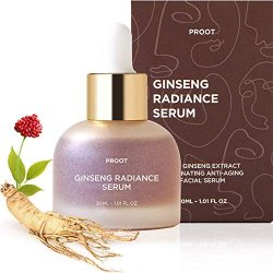 Ginseng Radiance Serum | 52.5% Ginseng Extract Rejuvenating Anti Aging Face Serum | Formulated with Ginseng Extract, Hyaluronic Acid, WGF Complex-3 | Korean Skin Care, Vegan, Cruelty-free | 1.01 oz
