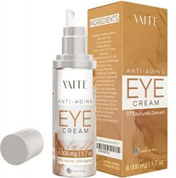 Eye Cream Treatment for Anti-Aging, Bags, Puffiness, Circles, Wrinkles, Dark Circles Under Eyes – Best Organic Natural Eye Gel For Men and Women with Hydrating Serum and Vitamin C