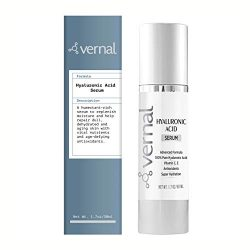 Vernal's 100% Pure Hyaluronic Acid Serum – Rich With Vitamins C, A, D, E and Age-Defying Antioxidants – Best Anti Wrinkle, Anti Aging Face Serum that Lifts and Firms Skin, Made in USA