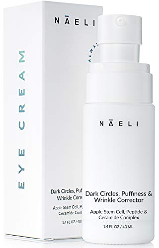 Eye Cream for Dark Circles, Puffiness & Wrinkles – Anti Aging Bags Treatment – Apple Stem Cell, Peptide & Ceramide Complex – Hydrates, Brightens & Restores Under Eye, 1.4 oz.