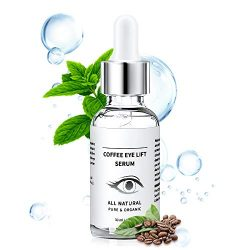 Under Eye Serum – Eye Serum for Dark Circle, Eye Puffiness, Eye Bag Treatment, Anti Aging/Wrinkle Eye Moisturizer with Hyaluronic Acid, Glycerin & Caffeine Eyes Serum for Men or Women