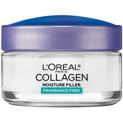 Collagen Face Moisturizer by L'Oreal Paris Skin Care, Day and Night Cream Fragrance Free, Anti-Aging Face, Neck and Chest Cream to smooth skin and reduce wrinkles, 1.7 oz