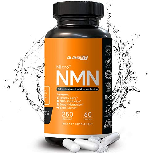 NMN Supplements – NMN Nicotinamide Mononucleotide Supplement – NAD Supplement – NAD Booster Supplement – NMN Supplement NAD Plus Cell Regenerator – NMN – Anti Aging Supplement – 250mg – AlphaFit
