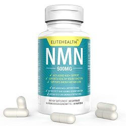 One Bottles PUREST NMN for NAD Support | 60 Grain |Each Capsules 250mg | Supplement for Anti-Aging & Energy Metabolism | Vegan Friendly (1 Pack)