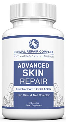 Dermal Repair Complex Skin Supplement – Advanced Collagen, Hyaluronic Acid and Vitamin C for Anti-Aging & Skin Health Support 60 Capsules