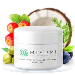 Misumi Skincare Crepey Skin Repair Treatment Cream – For Face, Neck, Arms & Legs – 4oz Tub – Erase Saggy Skin With Anti Wrinkle Crepe Formula – Anti Aging Body Firming Lotion for Loose Skin