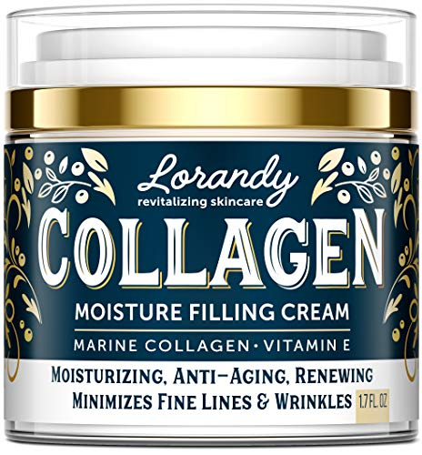 Collagen Cream – Anti-Aging Face Moisturizer for Women – Made in USA – Day & Night Moisturizer for Face – Marine Collagen Face Cream – Antiwrinkle Face Cream – Collagen Face Cream with Vitamin E