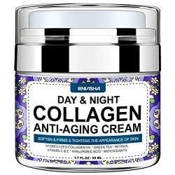 Wumal Day and Night Cream – Organic Collagen Cream for Women & Men – Anti Aging Face Moisturizer with Hyaluronic Acid & Vitamin C, Helps Cleanse, Moisturize, Rejuvenate, and Brighter Your Skin