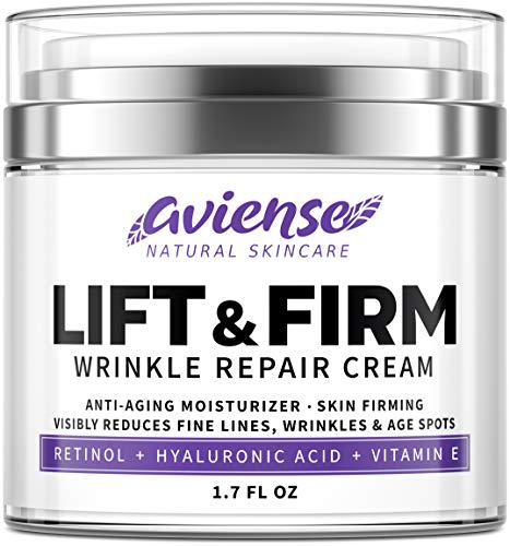 Anti Wrinkle Cream for Face – Retinol & Collagen Anti Aging Cream – Made in USA – Fine Lines & Wrinkle Repair – Retinol Cream for Face with Hyaluronic Acid & Vitamin E – Face Moisturizer for Women & Men