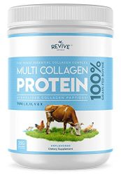 Multi Collagen Hydrolyzed Protein Powder (16oz) – Types I, II, III, V & X – Grass Fed Bovine (Peptan®), Wild Caught Marine, Free Roaming Chicken & Eggshell Collagen Peptides, Non-GMO, GF.