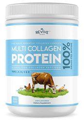 Multi Collagen Hydrolyzed Protein Powder (16oz) – Types I, II, III, V & X – Grass Fed Bovine (Peptan®), Wild Caught Marine, Free Roaming Chicken & Eggshell Collagen Peptides, Non-GMO, GF.