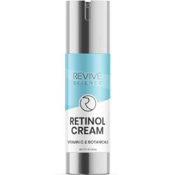 Revive Science Retinol Cream & Anti Aging Face Moisturizer – Clinically Proven Wrinkle Cream for Face with Retinol, Hyaluronic Acid, Vitamin C, Collagen – Face Cream for Women And Men – NET 1.7 FL OZ