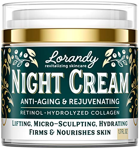 Night Cream for Face – Collagen & Retinol Cream for Face with Hyaluronic Acid – Anti-Aging Face Moisturizer for Women & Men – Night Wrinkle Cream for Face – Anti Aging Cream for Women – 1.7 fl oz