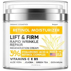 Anti-Wrinkle Cream for Face – Neck Firming Cream for Double Chin and Lifting – Day and Night Cream Anti-Aging Face Moisturizer for Women – Made in USA – Retinol Cream for Face with Hyaluronic Acid