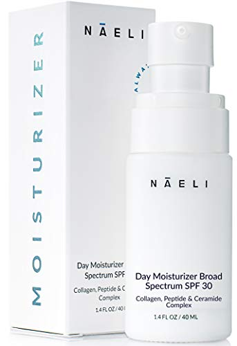 Daily Face Moisturizer with SPF 30 – Anti Aging Collagen & Peptide Complex – Reduces Wrinkles & Plumps Skin – Lightweight Hydration with Retinol & Hyaluronic Acid, 1.4 oz
