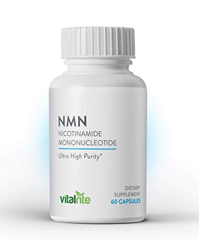 VitalRite – NMN Supplements | Nicotinamide Mononucleotide – 250mg Per Serving | NAD+ Precursor Supplement | Promotes Anti-Aging and Supports Mitochondria | Increase Cellular Energy and Metabolism