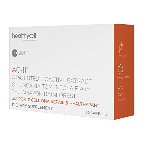 Healthycell AC-11 Supplement – DNA Repair Extract from Amazon Uncaria tomentosa Cat's Claw – Supplement for Anti Aging – Stem Cell Support – Immune Boosting – 350mg Natural Capsules (30 Pack Supply)