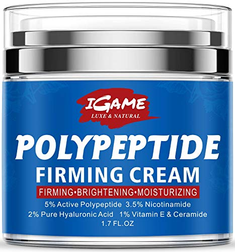 Polypeptide Face Cream, Anti Aging Face Moisturizer for Anti Wrinkles, Hydrating, Brightening, Moisturizers for face with Polypeptide, Nicotinamide, Hyaluronic Acid, Vitamin E