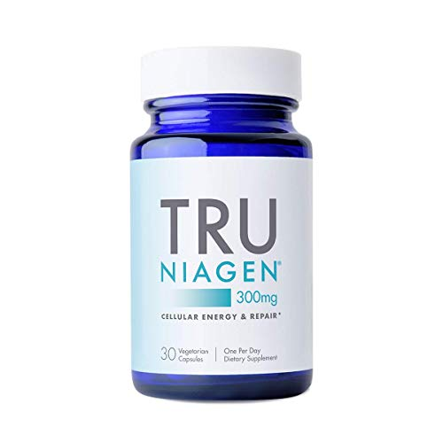 TRU NIAGEN NAD+ Booster Supplement Nicotinamide Riboside NR for Energy Metabolism, Cellular Repair & Healthy Aging (Patented Formula) More Efficient Than NMN – 30 Count – 300mg (1 Month / 1 Bottle)