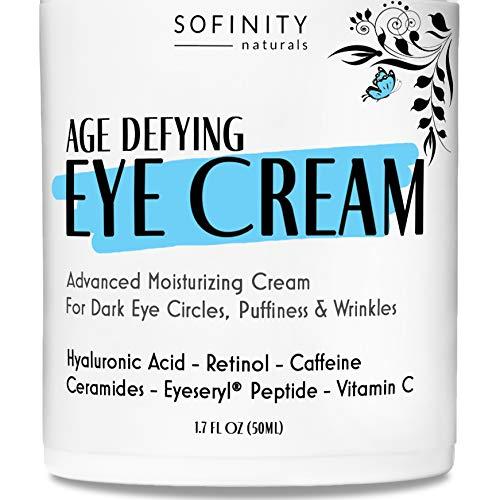 Eye Cream Anti Aging Bags & Dark Circle – Under Eye Cream – Dark Circles under Eye Treatment for Women / Men – Eye Cream for Dark Circles and Puffiness – With Retinol, Caffeine, Vitamin C, by Sofinity
