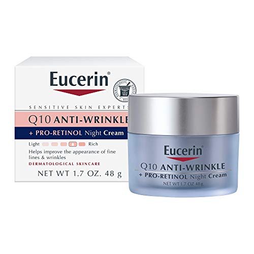 Eucerin Q10 Anti-Wrinkle Face Night Cream, 1.7 Ounce