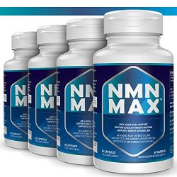 4 Pack NMN Capsules with Maximum Strength- 500mg- High Absorption Nicotinamide Mononucleotide Supplement- Supports Brain Function & Anti Aging