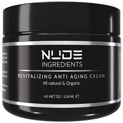 Nude Ingredients Mens Anti Aging Face Cream For Men – Day and Night Cream – Essential Facial Moisturizer for Men – Wrinkle Cream For Men – Cream For Dry Skin – Scented – 4 Ounce