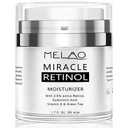 Retinol Cream, Face Moisturizer for Women, Face Cream for Anti Aging Acne Dark Spot Wrinkle Natural and Organic Night Cream with 2.5% Retinol Complex and Hyaluronic Acid – 1.7oz