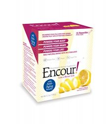 Encour! Bioenergetic Anti-Aging Supplement | Single-Serve Drink Powder Packs | 30 Day Supply (Tangy Lemon)