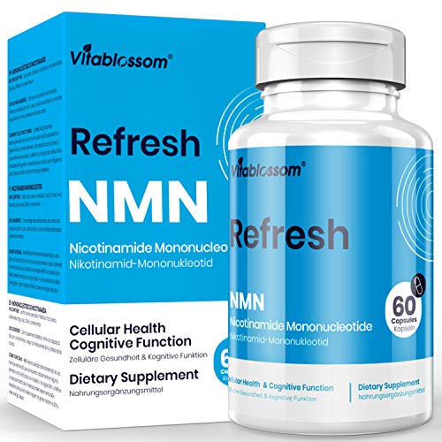 Vitablossom NMN Supplement NMN 500mg 60 Capsules NMN Nicotinamide Mononucleotide NAD Supplements, to Boost NAD Levels for Anti Aging, Energy Supplement, Cellular Repair & Healthy ( 1 Pack 60 Count)