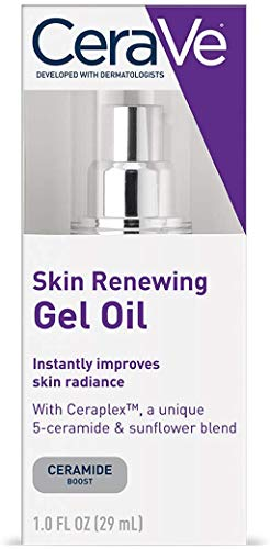 CeraVe Gel Oil | 1 Ounce | Anti Aging Gel Serum for Face to Boost Hydration | Fragrance Free