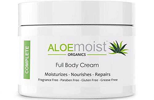 Natural Aloe Vera Body Lotion – Face & Body Moisturizing Cream With Organic Aloe Vera Gel, Vitamin E, Vitamin C, Retinol Cream, Shea Butter – Anti Aging, Stretch Marks, After Sun Lotion, Dry Skin, Acne Scar Cream, Eczema Cream – 8oz