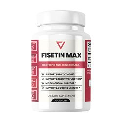 Fisetin Max | Nootropic Anti-Aging Supplement – Doctor Approved Antioxidant Support for Healthy Aging, Better Brain Health, Improved Energy Levels, and Maintaining Strong Memory* – 30-Day Supply