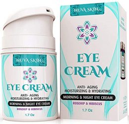 NUVA SKIN Intensive Eye Cream with Intensive Eye Cream with Rosehip & Hibiscus – Anti-Aging Under Eye Cream – Reduce the Appearance of Fine Lines, Wrinkles, Dark Circles, Puffiness and Bags, 1.7 Fl Oz