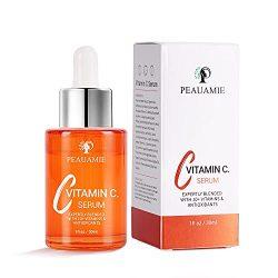 Peauamie vitamin c serum for face Anti Aging Hyaluronic Acid Vitamin E Retinol 1 fl oz